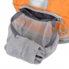 Locallion Outdoor Multi-function Backpack w/ Water Bag Compartment - Orange + Grey