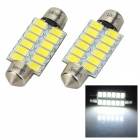 SENCART DE3425 39mm 4W 7500K 12-SMD 5730 LED White Car License Plate / Reading / Roof Light (9~36V)