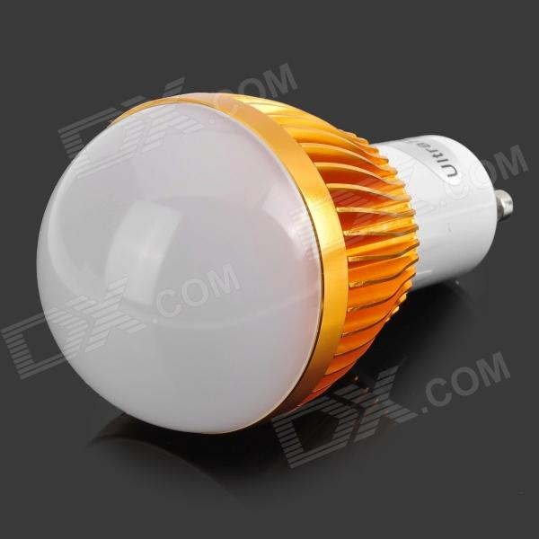 LZ-02 GU10 3W 3-LED Light Bulb Lamp Housing - Golden + White (85~265V)
