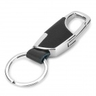 817 Stainless Steel Keychain - Black + Silver
