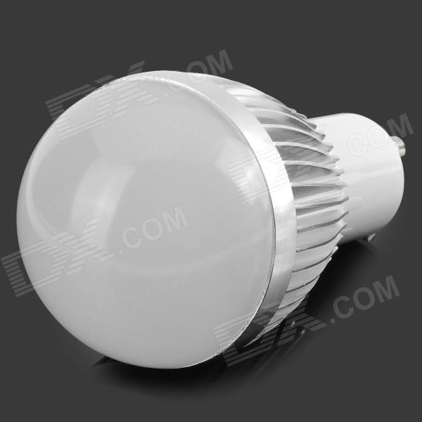 LZ-08 GU10 3W 3-LED Light Bulb Lamp Housing - Silver + White (85~265V)
