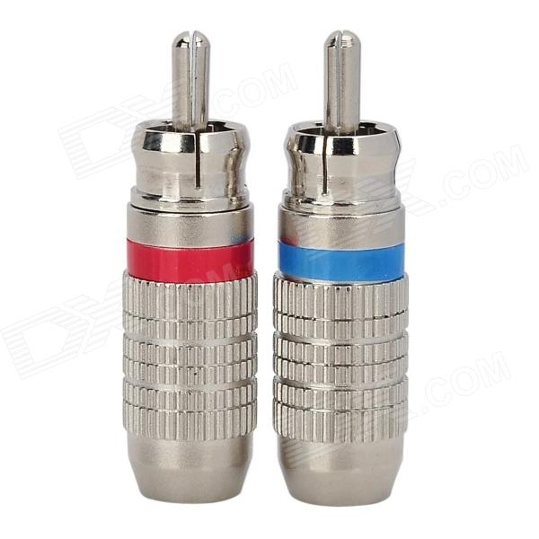 WLXY WL-3109  RCA Audio and Video AV Welding Plug - Silver (2 PCS)