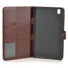 Protective Flip-open Flower Cloth PU Leather Case for Samsung Galaxy Pro 8.4 T320