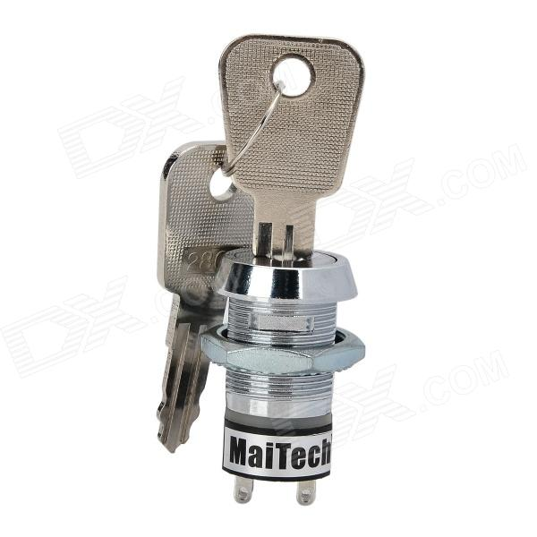 MaiTech 04060015 Zinc Alloy Key Switch - Silver maitech 04060014 on off key electronic lock switch silver ac 125 250v