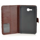 Protective Flower Cloth PU Leather Case for Samsung Galaxy Tab 3 Lite T110 - Black