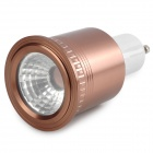LZ-14 GU10 5W 1-LED Spotlight Lamp Housing - Dark Brown + White (85~265V)