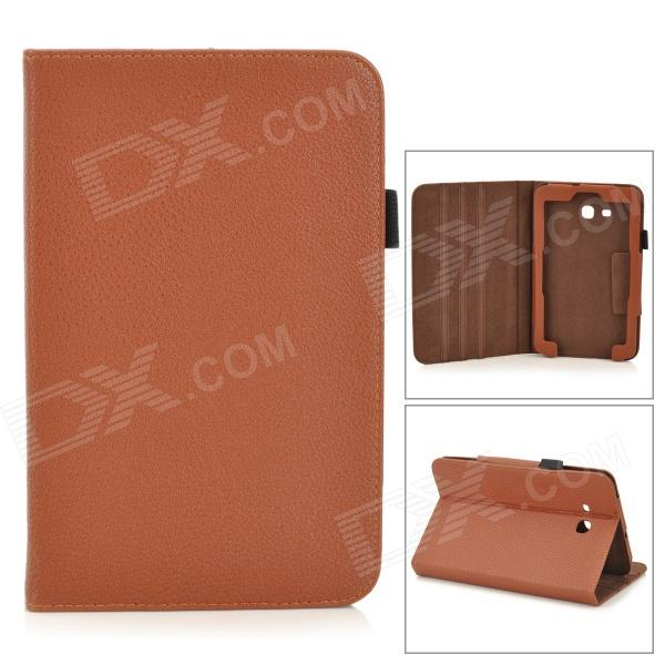 Lichee Pattern Protective PU Leather Case for Samsung Galaxy Tab 3 Lite T110 - Brown чехол для samsung galaxy tab 3 7 0 samsung vip case f btpc002rbr brown