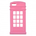 HELLO DEERE Telephone Booth Style Protective Silicone Back Case for IPHONE 5S / 5G - Pink
