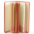 WH-A1064 conveniente Portable Notebook / Bloc de notas - Orange (120 hojas)