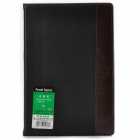 WH-8925 Convenient PU Cover Notebook / Notepad - Black (120 Sheets)