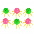 Cute Lifelike Octopus Style Plastic Aquarium Fish Tank Decorator - Pink + Green (6 PCS)