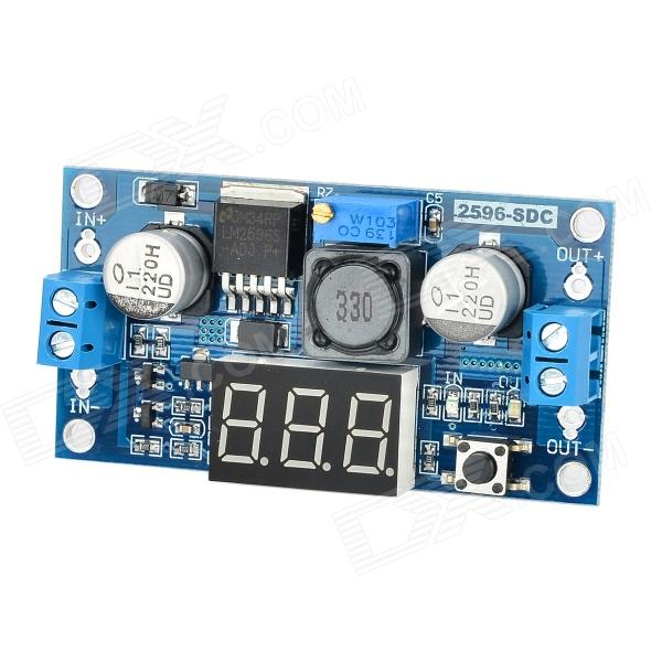 LM2596-SDC DC to DC Debugging Power Module w/ 0.4 3-Digit Voltmeter - Deep Blue