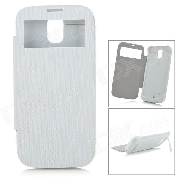 S4-32A 3000mAh Power Bank Battery Case w/ Holder for Samsung Galaxy S4 i9500 - White highscreen аккумулятор для easy s easy s pro 2200 mah