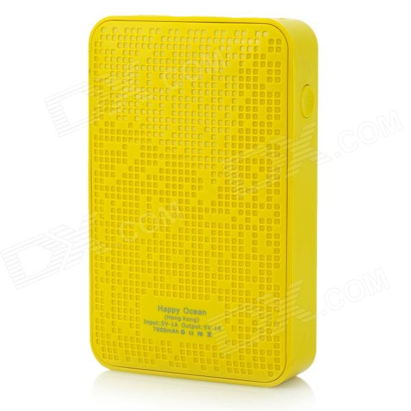 Happy Ocean H788 7800mAh Mobile Power Bank - Yellow best battery brand 508176 high capacity lithium polymer battery 3800 mah battery mobile power