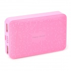 Happy Ocean H788 Dual USB 5V 7800mAh Li-ion Polymer Battery Power Bank - Dark Pink