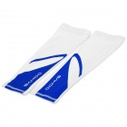 SAHOO 45545 Outdoor Cycling Polyester Arm Sleeves - White + Blue (Pair / M)