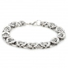 SHIYING SL162 Stylish Stainless Steel Bracelet for Men - Silver
