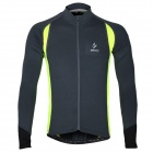 ARSUXEO AR60026 Quick-dry Outdoor Cycling Jersey for Men - Grey + Fluorescent Green (Size XXL)