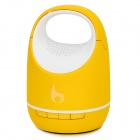 S05C Mini Pail Shaped Handsfree Bluetooth Speaker - Yellow + White