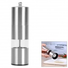 Convenient Modern Stainless Steel + Acrylic Pepper Spice Sea Salt Mill Grinder Muller - Silver