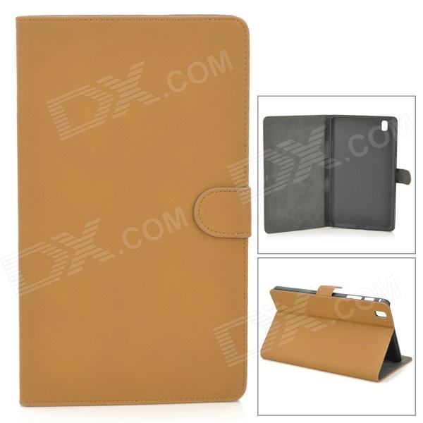 Retro Protective PU Leather Flip-open Case for Samsung Galaxy Pro 8.4 T320 - Brown