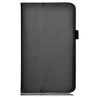 Lichee Pattern Protective PU Leather Case for Samsung Galaxy Tab 3 Lite T110 - Black