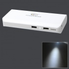 BTY Portable Dual USB 11000mAh Power Bank for Samsung / HTC / IPHONE / Nokia - White + Grey