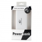 BTY Portable USB Dual 11000mAh Power Bank pour Samsung / HTC / IPHONE / Nokia - blanc + gris