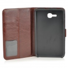 Protective Demin PU Leather Case for Samsung Galaxy Tab 3 Lite T110 - Dark Blue + Brown