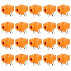 3.5mm Single Frequency Audio Socket Panel - Orange (20 PCS)