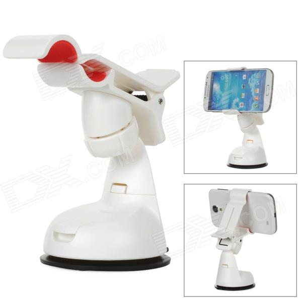 ZEA3-12-1JZ Universal ABS Rotary Desktop Cellphone Holder w / Saugnapf - weiss