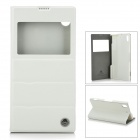 ROCK Protective PU Leather + Microfiber Case for Sony L39T Xperia Z1 - White