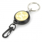 EDCGEAR Multi-functional Outdoor Sports Retractable TAD Steel Rope w/ Carabiner - Black + White