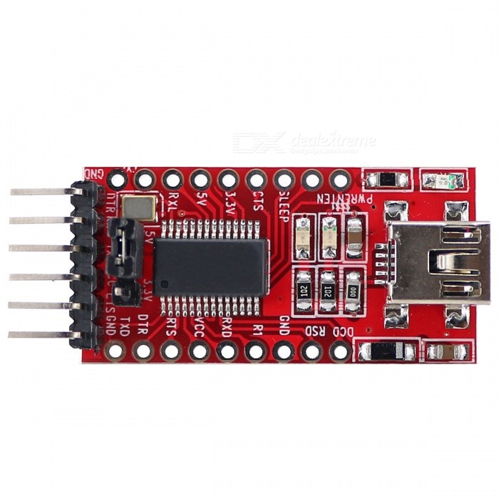 FT232RL USB to TTL Module Board for Arduino - Red (Works with official Arduino Boards) adidas дезодорант спрей для мужчин pure game 150 мл