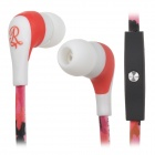 GOLD FIVE STAR GFS-A101 In-Ear Stereo Earphones - Deep Pink +  Black