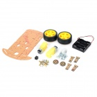 LSON Smart Car Chassis w/ Motors / Wheels Set Module - Yellow