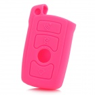 GEL14031617 Protective Silicone Car Key Case for BMW 740LI 750LI 760LI 730LI - Pink