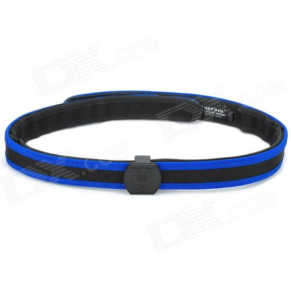 Outdoor War Game Professional Shooting Tactical Waist Belt - Black + Blue