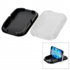 Rubber Non-Slip Mat Pad for Cellphone - Black / Transparent (2 PCS)