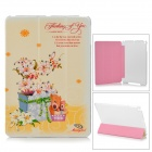 Manleybird Lily and Bear Protective PU Leather + Plastic Case for IPAD Air