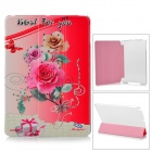 Manleybird 002 Protective PU Leather + Plastic Case for IPAD AIR - Red +  Grey