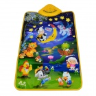 YIQU YQ2962 Kid's Russian Language Game Play Music Mat - Green + Blue (3 x AA)