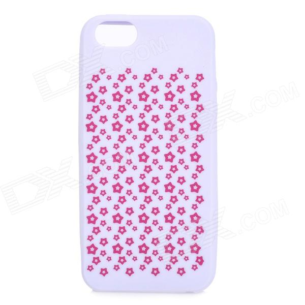 Soft Protective Silicone Back Case for IPHONE 5 / 5S - Lavender + Red protective silicone soft back case cover for iphone 5 white