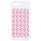 Bellis Perennis Pattern Protective Silicone Back Case for IPHONE 5 / 5S - White + Red