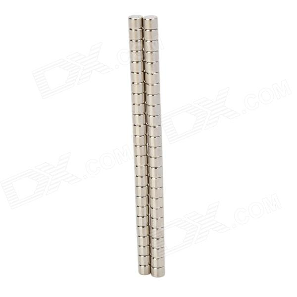3 x 4mm Cylinder Shaped Magnet - Silver (50 PCS) si with magnet cylinder bore 50 63mm stroke 25 250mm double acting no tie rod refer to form in description