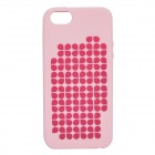 Cherry Pattern Protective Silicone Case for IPHONE 5 / 5S - Pink + Red
