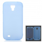 Protective Matte Flip-open TPU Case w/ Cover for Samsung i9500 - Light Blue