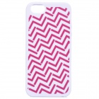 Soft Protective Silicone Back Case for IPHONE 5 / 5S - Lavender + Red