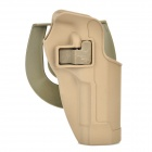 Handy Plastic Waist Holster w/ Buckle for M92 Gun - Earthy