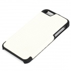 Snake Pattern Protective Leather + ABS Back Case for IPHONE 5 / 5S - White + Black